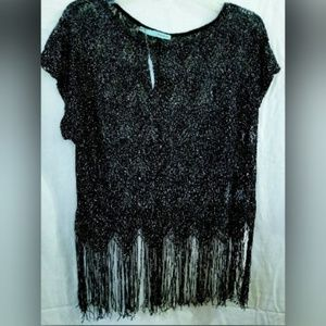 Maurices Fringed Shirt Blouse Festival Boho Clubs